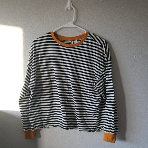 Tops - H&M Striped Long-Sleeve